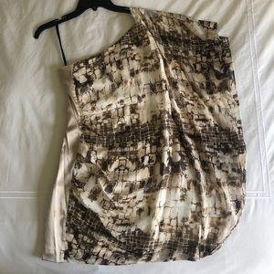 Bebe one shoulder animal print dress